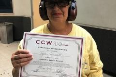 ccw-woman-pistol-shooting-range-certificate